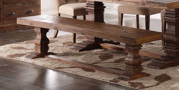 SAWN DISTRESSED DINING BENCH