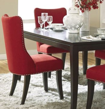 Picture of PLATINUM UPHOLSTERED SIDE CHAIR RED