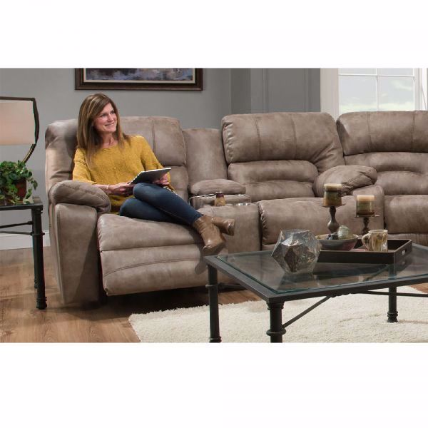 Picture of LEGACY RECLINING CONSOLE LOVESEAT TAUPE