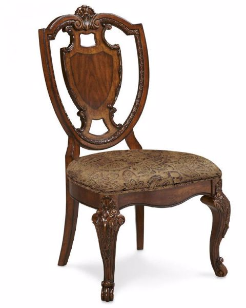 Picture of OLD WORLD SHIELD BACK SIDE CHAIR