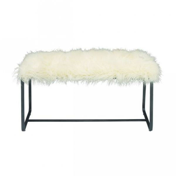 Picture of WHITE FUR BENCH