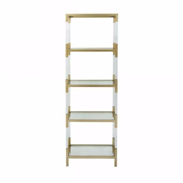 Picture of ACRYLIC AND GOLD ETAGERE