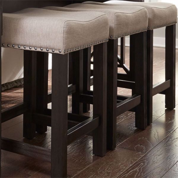 finest selection 25fdc 29f54 HEATHERBROOK UPHOLSTERED BAR STOOL
