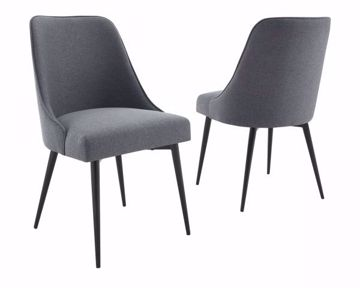 Picture of COLFAX SIDE CHAIR CHARCOAL
