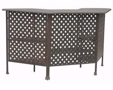 Picture of CASTLE ROCK WEAVE PARTY BAR TABLE PEWTER