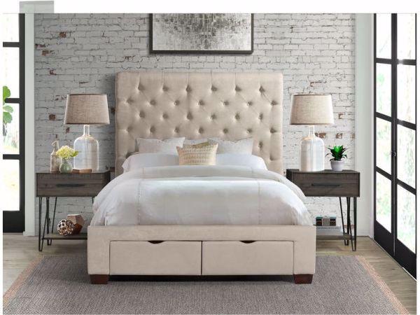 Waldorf King Upholstered Bed Sand
