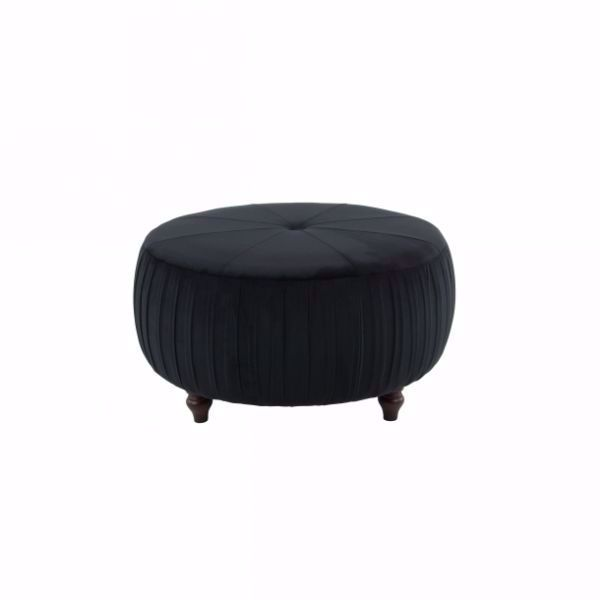 Picture of BLACK VELVET OTTOMAN