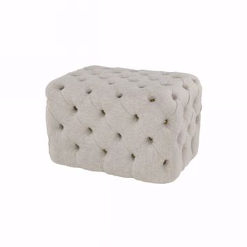 Picture of TUFTED OTTOMAN OATMEAL
