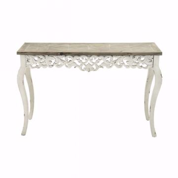 Picture of WHITE DISTRESS CONSOLE TABLE