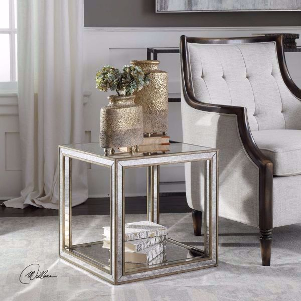 Picture of JULIE MIRRORED ACCENT TABLE