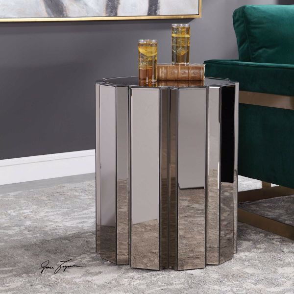 Picture of ABRIAL MIRRORED ACCENT TABLE