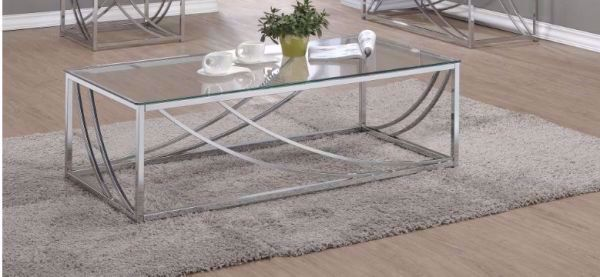 Picture of CHROME & GLASS COCKTAIL TABLE