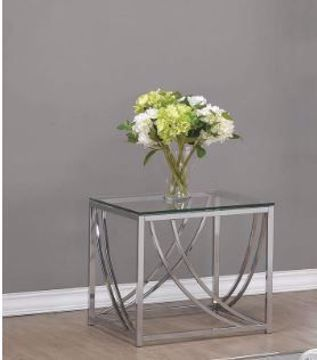 Picture of CHROME & GLASS END TABLE
