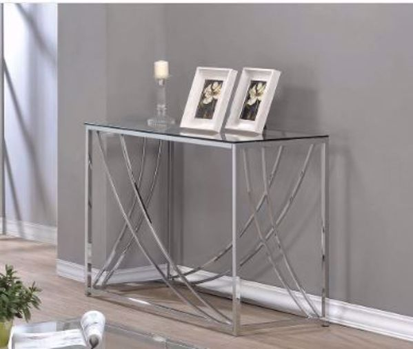 Picture of CHROME & GLASS SOFA TABLE