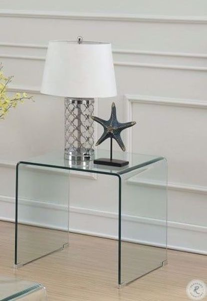 Picture of BENT GLASS END TABLE