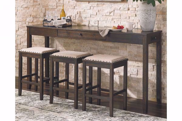 Rokane Sofa Table Bar 3 Stools
