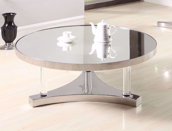 Picture of ROUND MIRRORED COCKTAIL TABLE