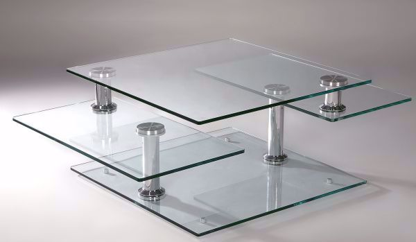 Picture of SWIVEL GLASS COCKTAIL TABLE