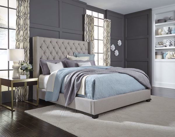 Picture of WESTERLY KING UPHOLSTERED BED GRAY