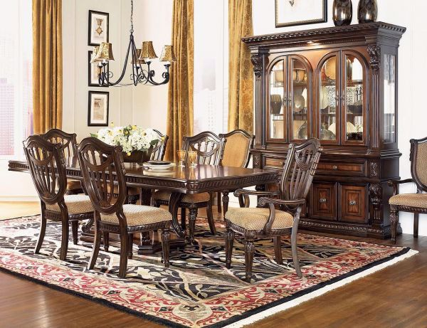 Picture of GRAND ESTATES DOUBLE PEDESTAL DINING TABLE