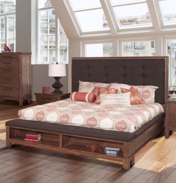 Picture of CAGNEY KING UPHOLSTERED STORAGE BED