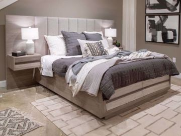 Picture of PALISADE KING PANEL BED W/ 2 NIGHTSTANDS