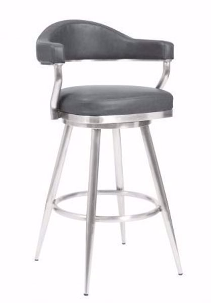 "Picture of JUSTIN 26"" COUNTER STOOL GREY"