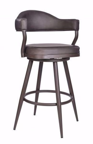 """Picture of JUSTIN 30"""" BARSTOOL BROWN"""