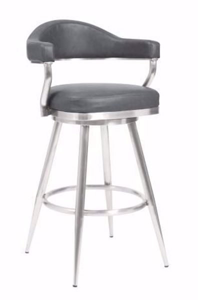 """Picture of JUSTIN 30"""" BARSTOOL GREY"""