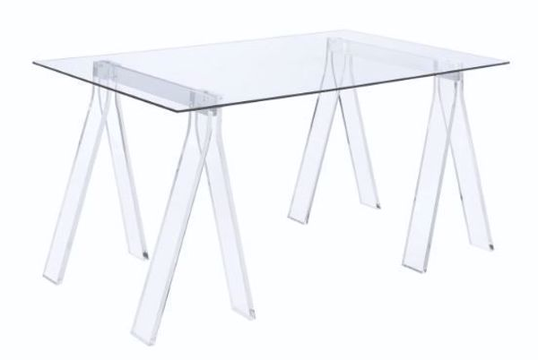 Picture of ACRYLIC SAWHORSE WRITING DESK