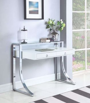 Picture of GLOSSY WHITE WRITING DESK