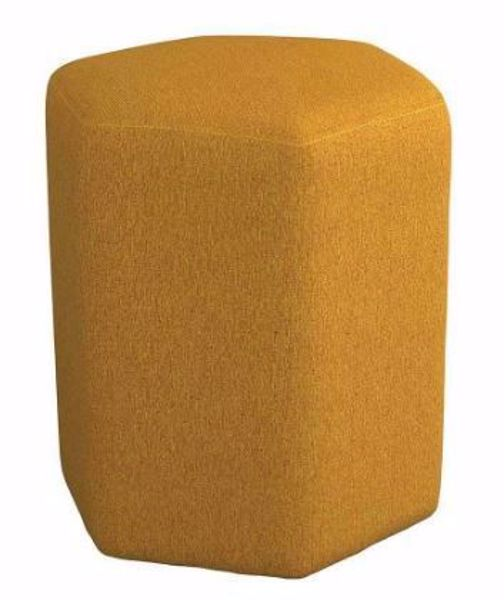 Picture of HEXAGONAL ACCENT STOOL YELLOW