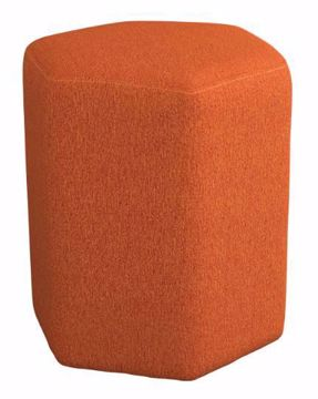 Picture of HEXAGONAL ACCENT STOOL ORANGE