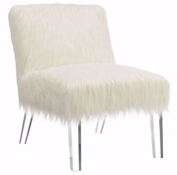 Picture of FUR & ACRYLIC ACCENT CHAIR