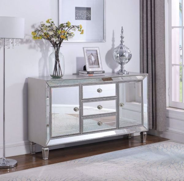 Picture of BEADED MIRROR ACCENT CHEST