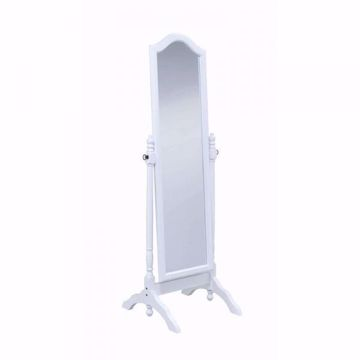 Picture of ARCHED CHEVAL MIRROR WHITE