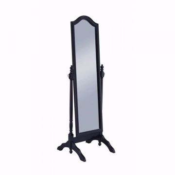 Picture of ARCHED CHEVAL MIRROR BLACK