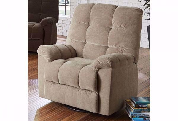 Picture of EARHARDT SWIVEL RECLINER TOAST