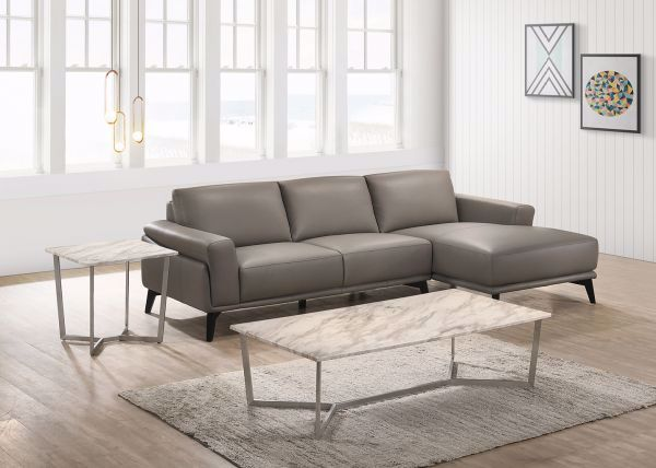 Lucca Slate 2 Pc Sectional