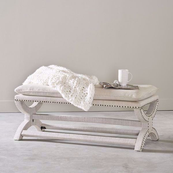 Picture of CREPE PILLOW TOP BENCH