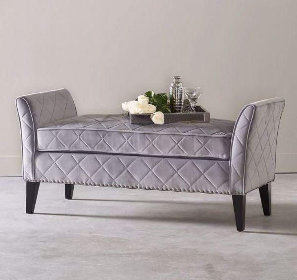 Picture of DUSK QUILTED DIAMOND BENCH