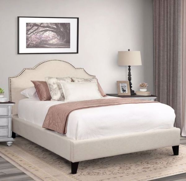 Charlotte Queen Upholstered Bed, Charlotte Queen Bed