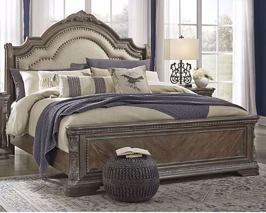 Picture of CHARMOND KING UPHOLSTERED SLEIGH BED