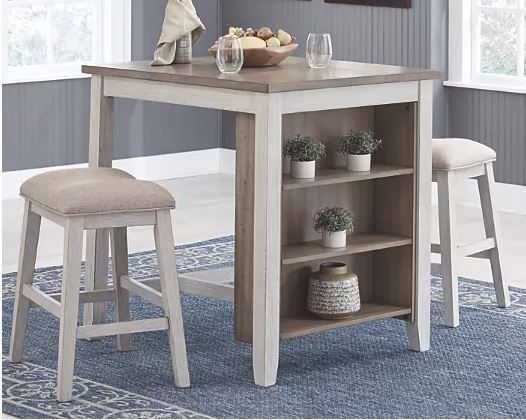 Picture of SKEMPTON COUNTER HEIGHT TABLE & 2 STOOLS