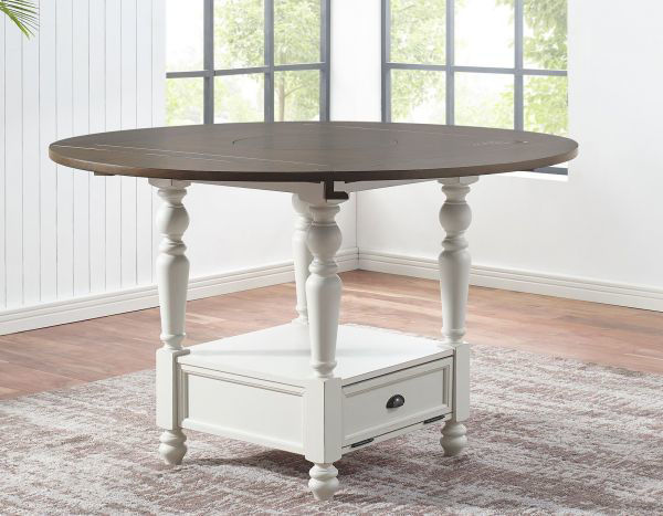 Picture of JOANNA COUNTER HEIGHT TABLE WITH LAZY SUSAN