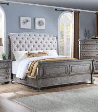 Picture of LAKEWAY KING UPHOLSTERED SLEIGH BED