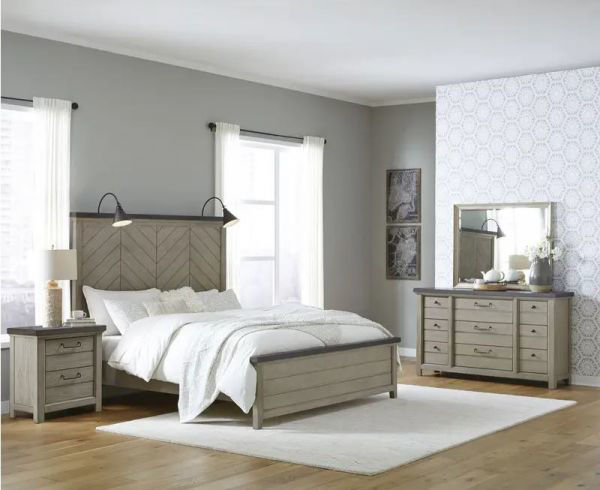 Picture of MODERN FARMHOUSE KING PANEL BED