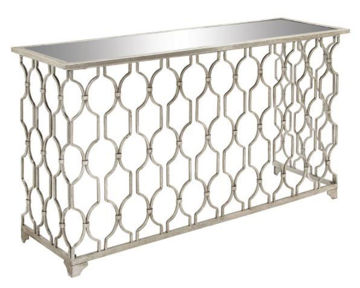 Picture of GEOMETRIC MIRROR CONSOLE TABLE