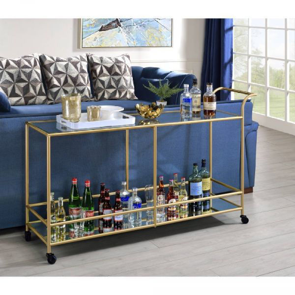 Picture of KENDA GLAM SERVING CART