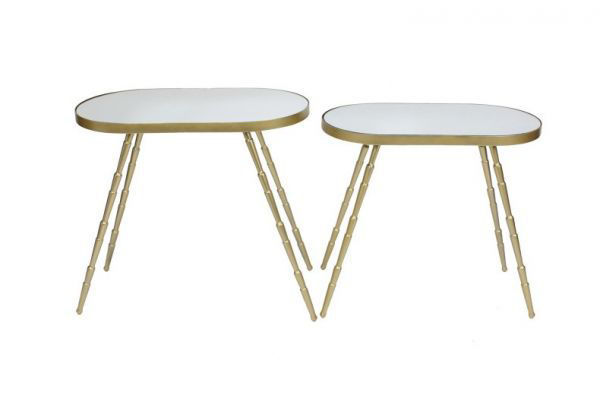 Picture of GOLD & MIRROR ACCENT TABLE SET